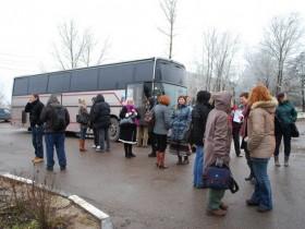 колония автобусов