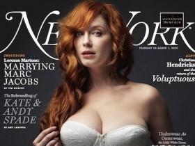 Кристина Хендрикс возникла в платье на обложке New York Mag