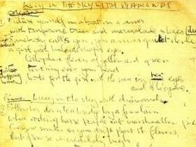 манускрипт Джона Леннона