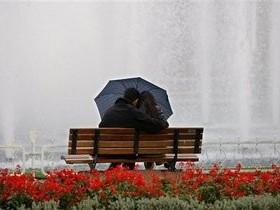 зонтик,ливень,пара