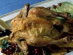Птица жаренная с овощами