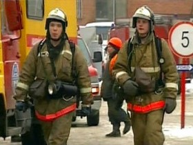МЧС на пожаре