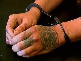 наручники,тату