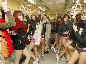 В метрополитене без брюк