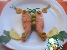 семгаФиле семги с апельсином и овощами