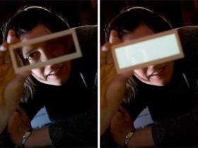 бесцветные OLED-светильники