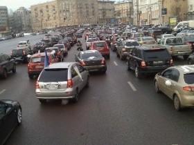 Фрондерский автопробег в городе Москва