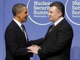 Янукович, Обама