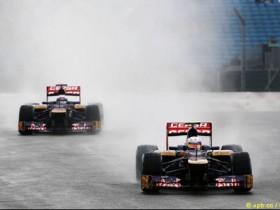 Toro Rosso,слякотная автотрасса,