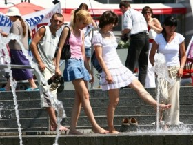 жаркая погода на Украине