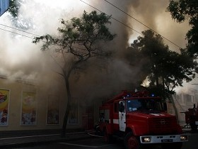 Одесса,пожар