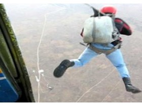скачки с парашюта