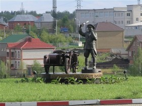 скульптура,мотоцикла