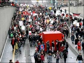 протест,студентов,в,Монреале