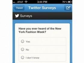 В Твиттер  возникла вероятность образования маркетинговых выборочных опросов