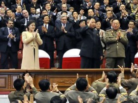 Ким Чен Ын,с супругой