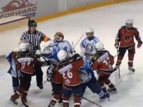 хоккей,драка