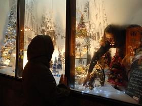 рождество,витрина