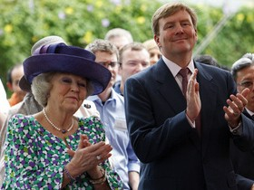 монарх и королева нидерландов