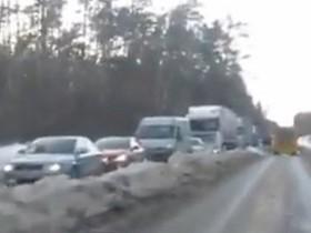 пробка на варшавском шоссе