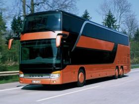автобус, трехэтажный