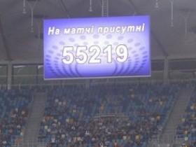 Поединок Динамо-Днепр собрал 55 миллионов болельщиков