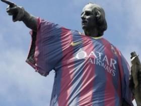 """""""Барселона"""" надела скульптуру Колумба в собственную фирменную майку"""