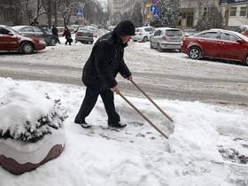 чистка снегопада