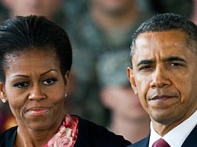 Барак,Обама,с,женой