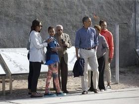 Обама с семьей