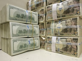 доллары США,иены