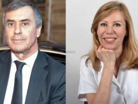 Жером Каюзак,с женой