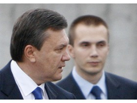 янукович с сыном Сашей