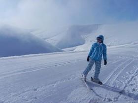 Карпаты,горы,зима,лыжник