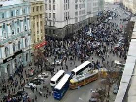 В Харькове митингуют в лечебных масках
