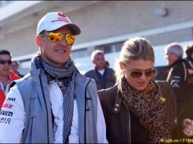 Михаэль Шумахер с супругой