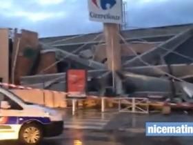 Под Ниццей обвалилась крыша универсама Carrefour