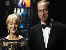 принц Уильям и Хелен Миррен