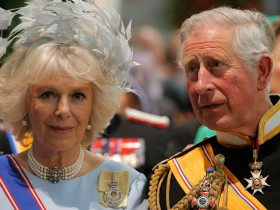 Король Чарльз с супругой