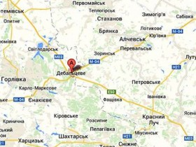 карта Дебальцево