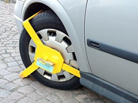 блокиратор колес,