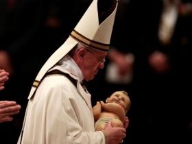 папа франциск,рождество