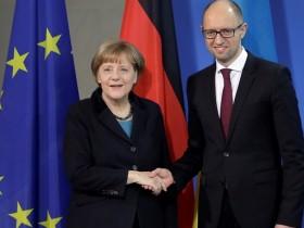 Меркель и Яценюк
