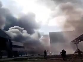 Пожар на Луганской ТЭС, север области обесточен