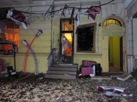 Ночной взрыв в Одессе (ФОТО)
