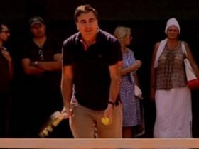 Саакашвили сыграл в теннис на корте Кивалова (ФОТО)