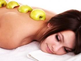 массаж яблоками