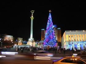 елка,майдан,Киев