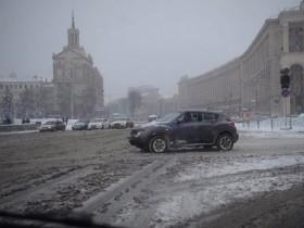 зима,дождь,киев,