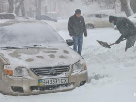 Одесса,снегопад,